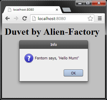 An FWT Dialog in a Web Browser